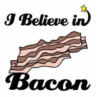 i believe in bacon standing photo sculpture