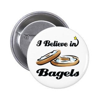 i believe in bagels pinback buttons