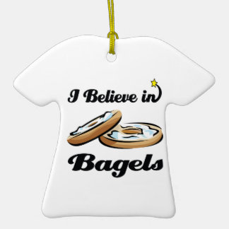 i believe in bagels christmas ornaments