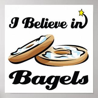i believe in bagels poster