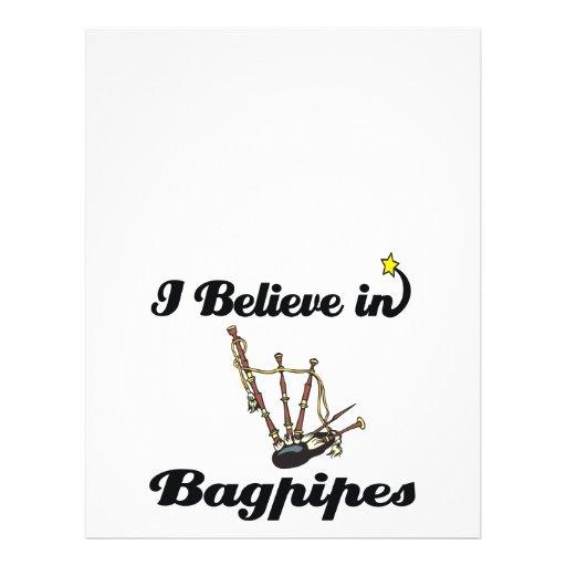 i believe in bagpipes custom flyer
