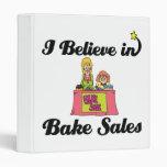 i believe in bake sales 3 ring binder