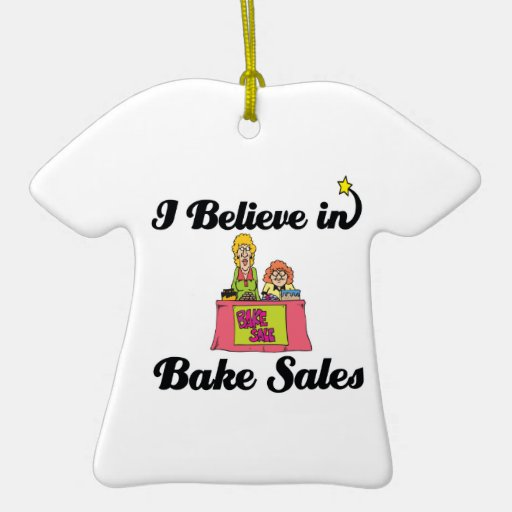 i believe in bake sales christmas tree ornament