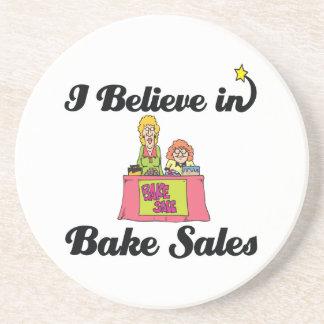 i believe in bake sales beverage coasters