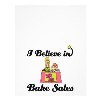 i believe in bake sales flyers