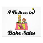 i believe in bake sales invitations