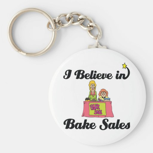 i believe in bake sales keychain