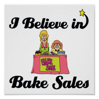 i believe in bake sales print