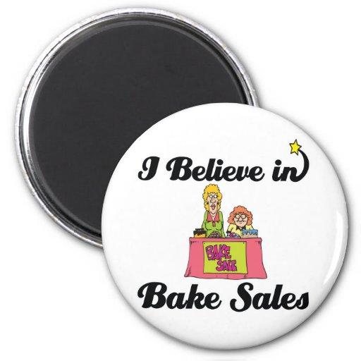 i believe in bake sales refrigerator magnets