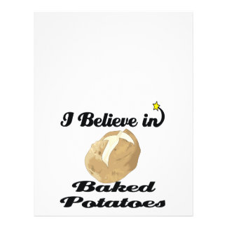 "i believe in baked potatoes 8.5"" x 11"" flyer"