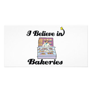 i believe in bakeries photo card