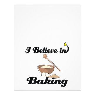 i believe in baking personalized flyer