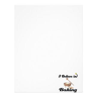 i believe in baking letterhead