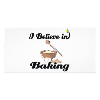 i believe in baking photo card