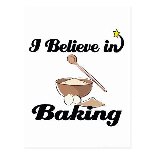 i believe in baking postcard