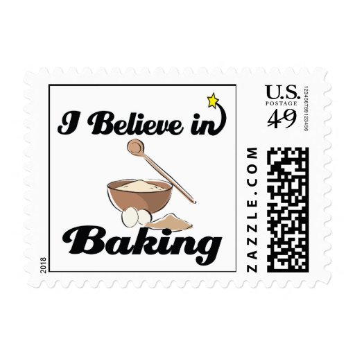 i believe in baking stamp