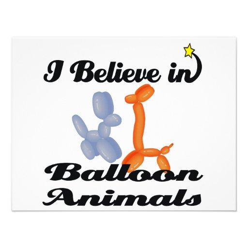 i believe in balloon animals invites
