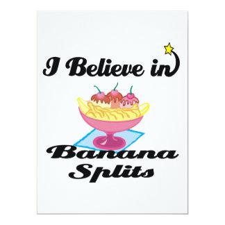 """i believe in banana splits 6.5"""" x 8.75"""" invitation card"""