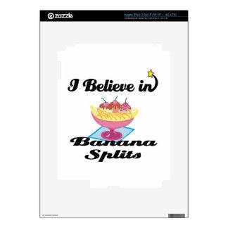 i believe in banana splits iPad 3 decals