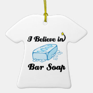 i believe in bar soap Double-Sided T-Shirt ceramic christmas ornament