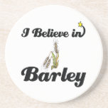 i believe in barley drink coasters