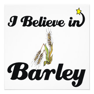 i believe in barley personalized announcement