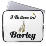 i believe in barley laptop sleeve
