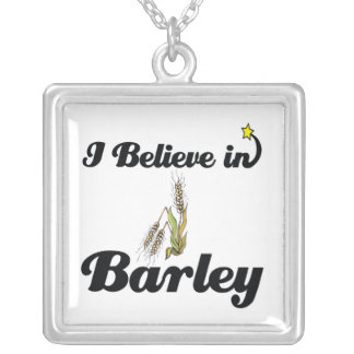 i believe in barley square pendant necklace