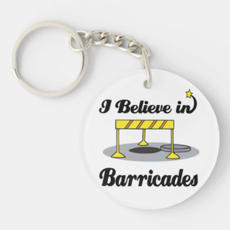 i believe in barricades Double-Sided round acrylic keychain
