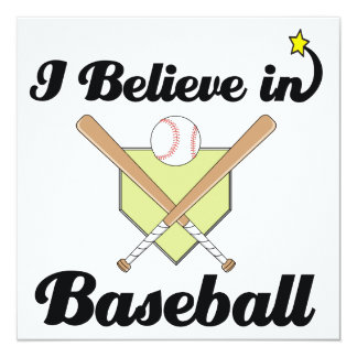 i believe in baseball invitations