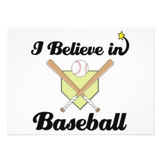 i believe in baseball personalized invites