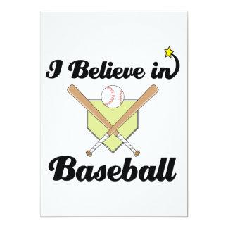 i believe in baseball personalized invitation