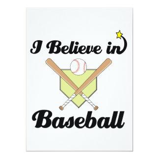 i believe in baseball personalized invite