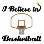 i believe in basketball acrylic cut out
