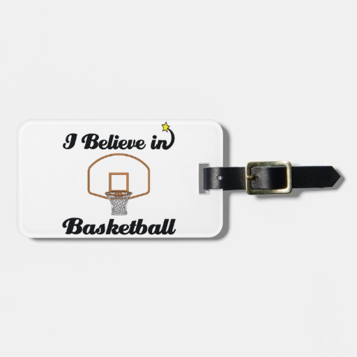 i believe in basketball luggage tag