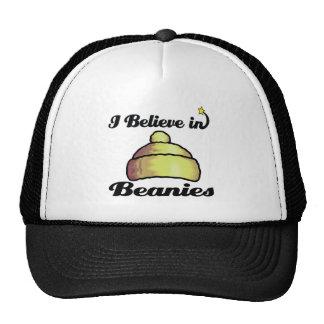 i believe in beanies trucker hat