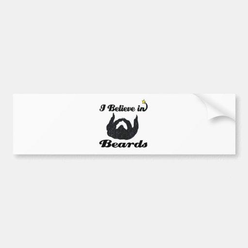 i believe in beards car bumper sticker