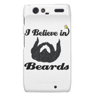 i believe in beards motorola droid RAZR cases
