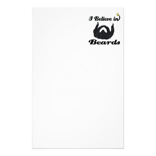 i believe in beards stationery paper
