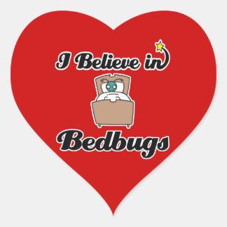 i believe in bedbugs heart stickers