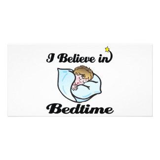 i believe in bedtime photo card