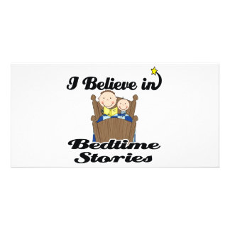 i believe in bedtime stories boys photo card
