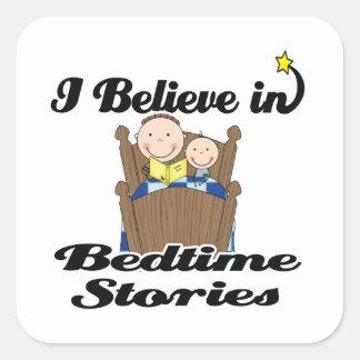 i believe in bedtime stories boys sticker