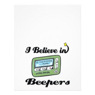 "i believe in beepers 8.5"" x 11"" flyer"