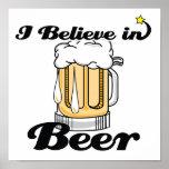 i believe in beer posters