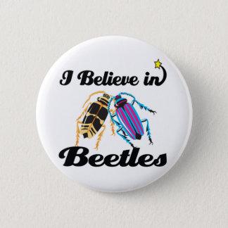 i believe in beetles pinback button