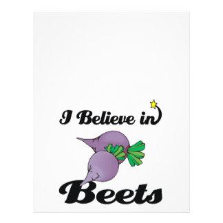 "i believe in beets 8.5"" x 11"" flyer"