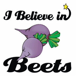 i believe in beets photo cut outs