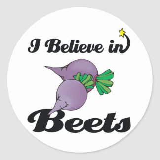 i believe in beets stickers