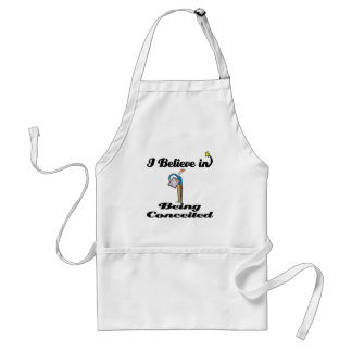 i believe in being conceited adult apron